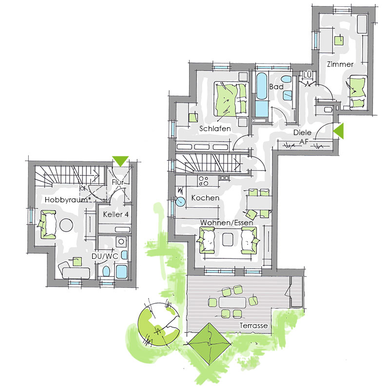 schultheiss wohnbau gartenwohnung hobbyraum 3 zimmer 84ma ag bautrager