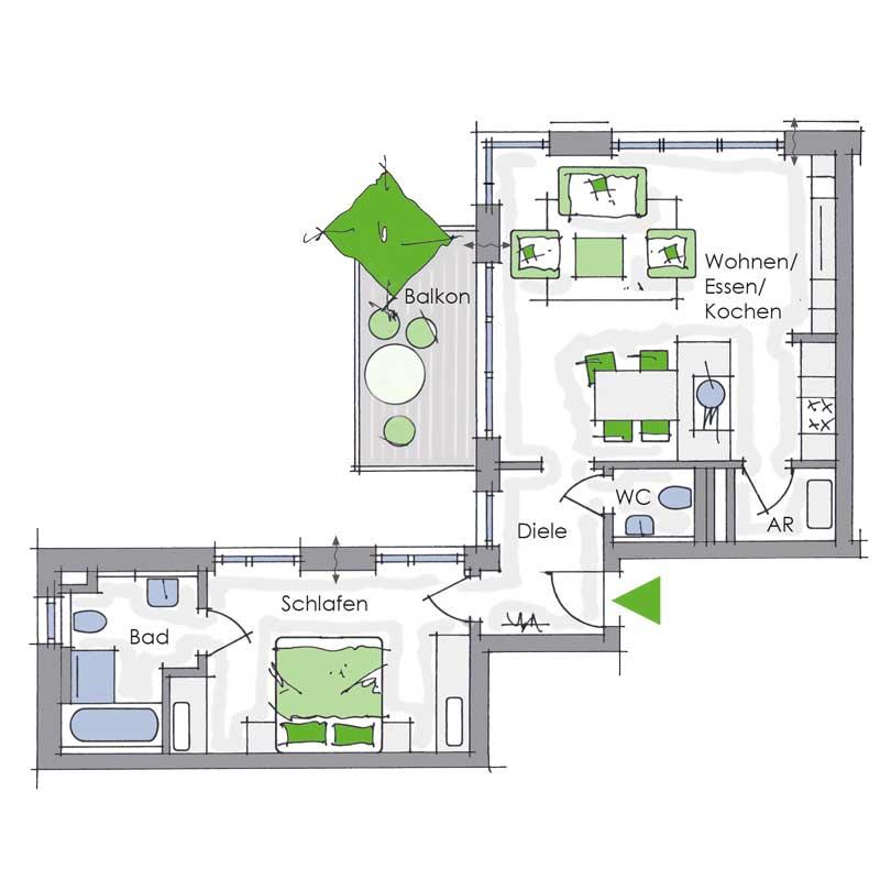 eigentumswohnung in n rnberg gro gr ndlach schultheiss wohnbau ag. Black Bedroom Furniture Sets. Home Design Ideas